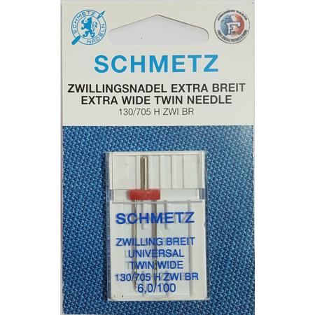 SCHMETZ AIGUILLE DOUBLE UNVERSELLE 6 MM