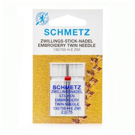 SCHMETZ AIGUILLE DOUBLE A BRODER 2.0 MM