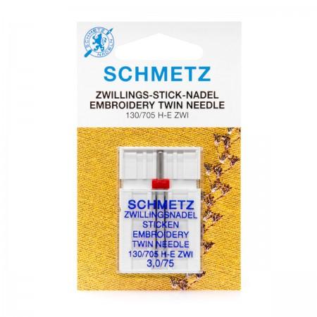 SCHMETZ AIGUILLE DOUBLE A BRODER 3.0 MM