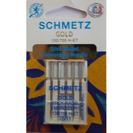 SCHMETZ AIGUILLES A BRODER GOLD 75