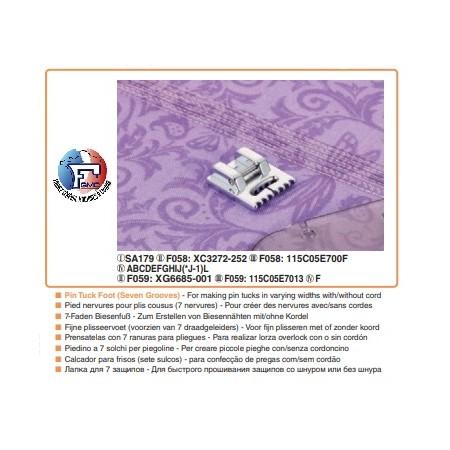 PIED 7 NERVURES POUR PLIS COUSUS F058